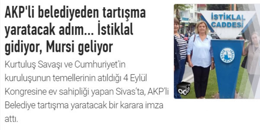 Caddeye Şehit Muhammed Mursi Adının Verilmesi Türkiye'deki Sisicileri Kızdırdı