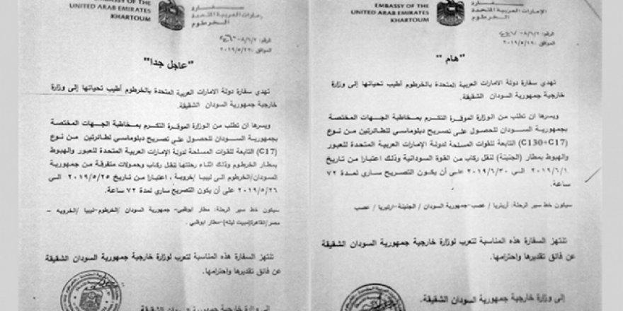 BAE Uçakları Sudan'dan Hafter'e Katil Taşıyor
