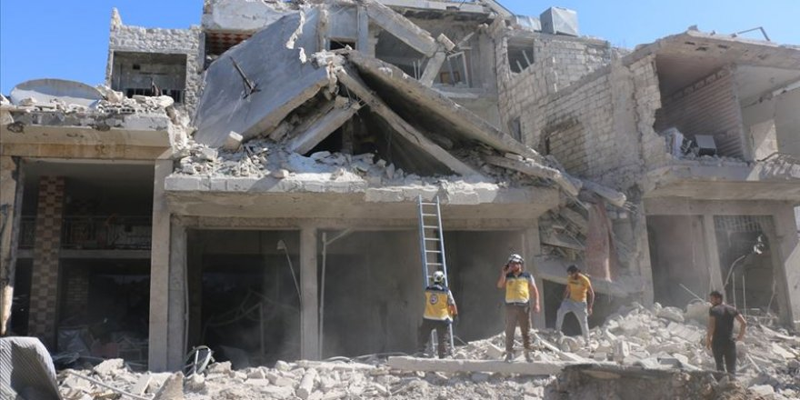 Katil Esed ve Rusya İdlib'de 9 Masumu Daha Katletti