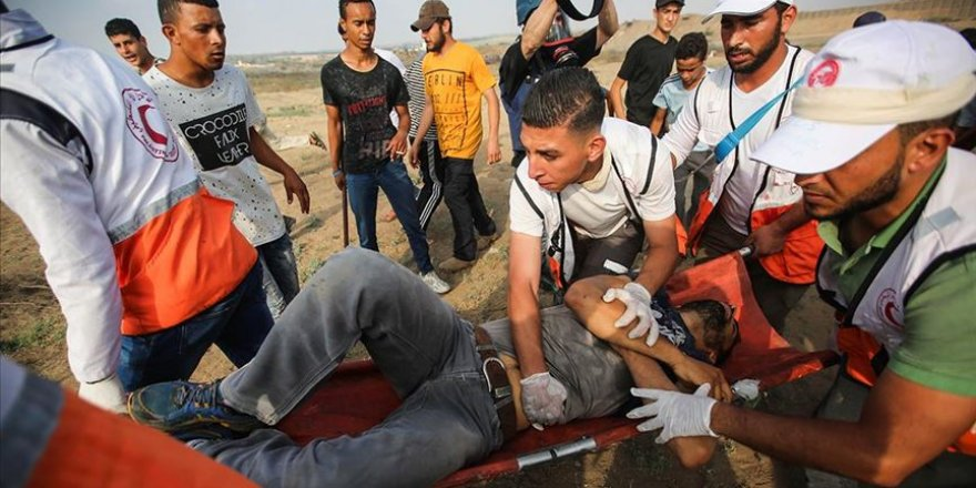 İsrail Askerleri Gazze Sınırında 37 Filistinliyi Yaraladı