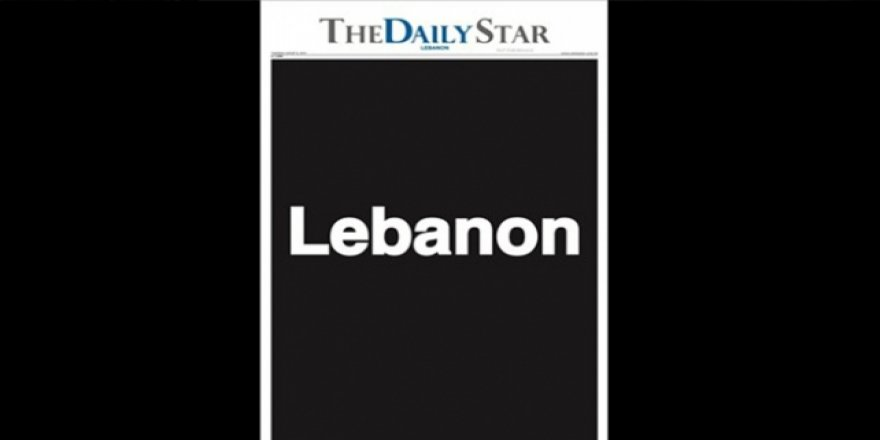 """Lübnan'daki """"The Daily Star"""" Gazetesi Boş Sayfalarla Çıktı"""