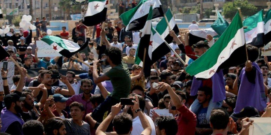 İdlib'te Rusya ve Esed Karşıtı Gösteriler Düzenlendi