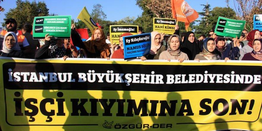 Özgür-Der'den İBB İşçileriyle Dayanışma Eylemi