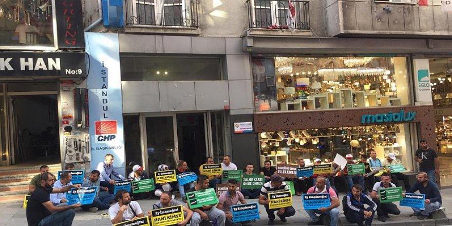 İBB'den Çıkartılan İşçiler CHP İl Binası Önünde Oturma Eylemi Başlattı