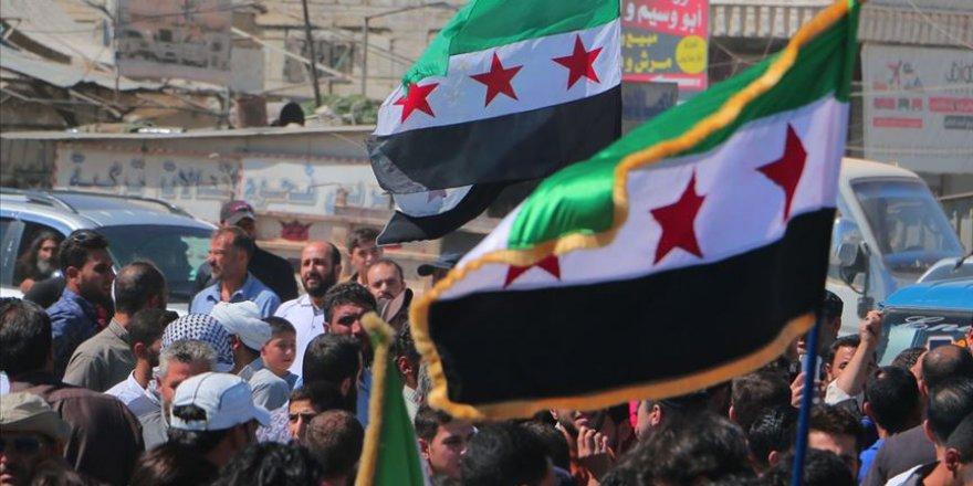 İdlib'de Esed Rejimi, Rusya ve Çin Protesto Edildi