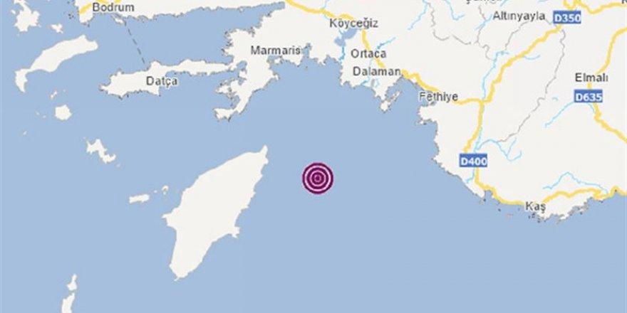 Fethiye'de 5.0 Büyüklüğünde Deprem
