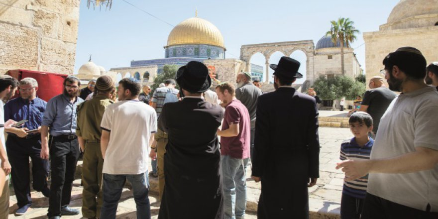 185 Fanatik Yahudi Mescid-i Aksa'ya Baskın Düzenledi
