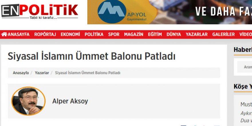 Selçuk Özdağ'ın Haber Sitesinde İslamcılığı Hedef Alan Yazı!