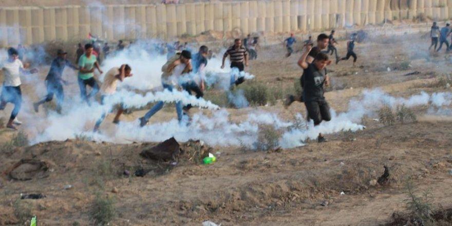 Gazze Şeridi'nin Doğusundaki Gösterilerde Onlarca Kişi Yaralandı