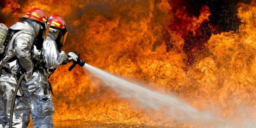İran'ın Semnan eyaletinde elektrik santralinde yangın çıktı