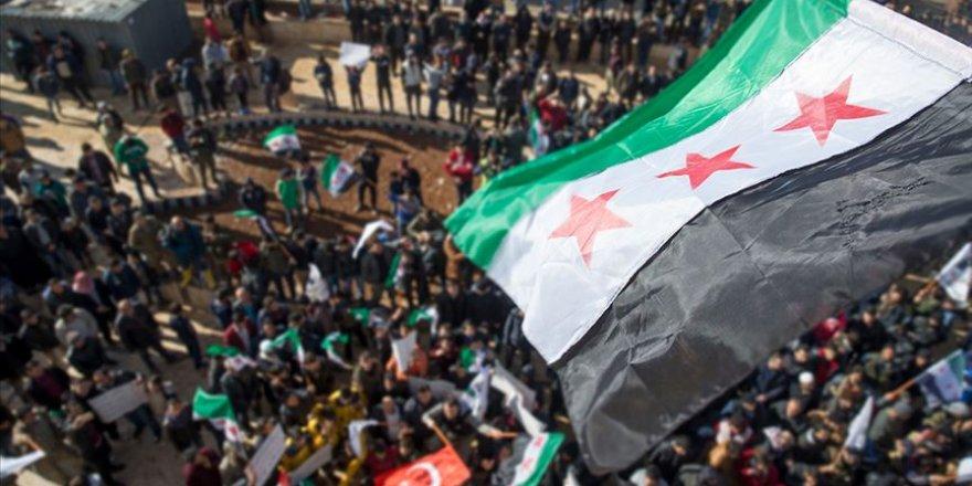 Münbiç'te Halk YPG/PKK Ve Esed Rejiminin Varlığını Protesto Etti