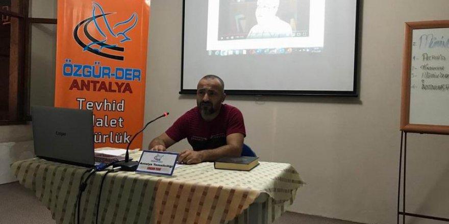 Antalya Özgür-Der'de Eğitim Seminerleri Başladı