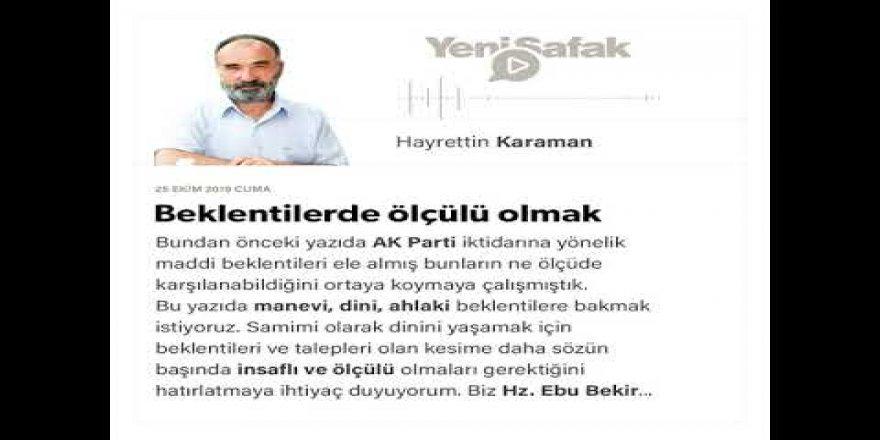 AK Parti ve İslami Kesimlerin Beklentileri