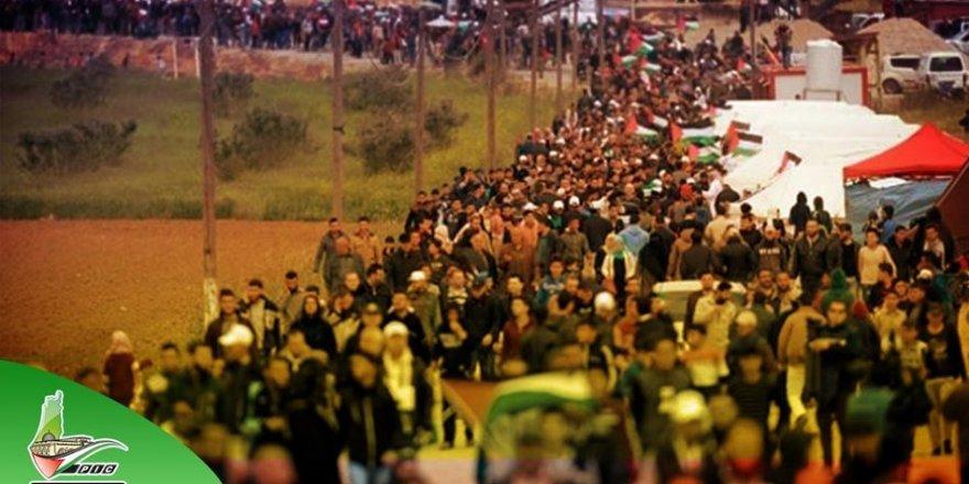 İşgal Güçleri Gazze Şeridi Sınırında Göstericilere Ateş Açtı: 96 Yaralı