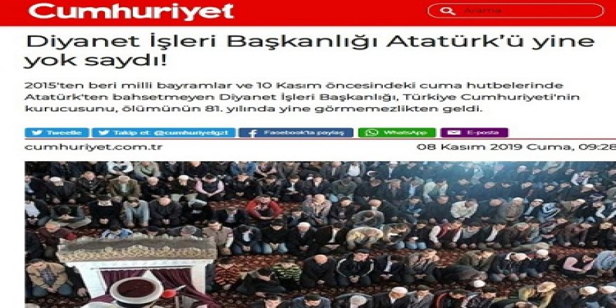 Kemalistler Diyaneti Hizaya Getirme İnatlarından Vazgeçemiyor!