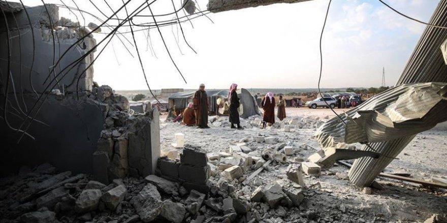 İşgalci Rusya İdlib'de Bu Kez de Çadır Kampına Saldırdı!