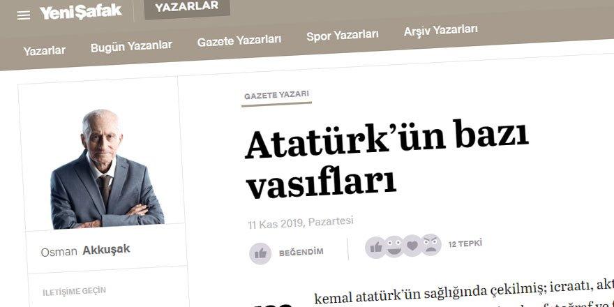 Yeni Şafak'ta Garip Bir Atatürk Güzellemesi