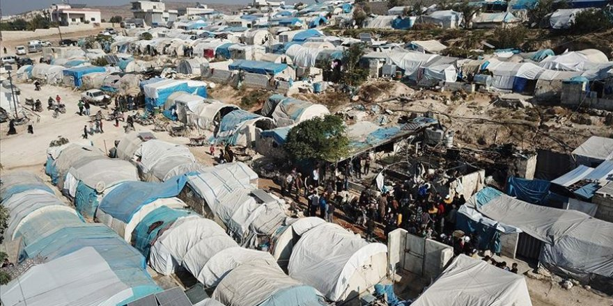 Katil İran ve Esed'in Vurduğu Çadır Kampı Havadan Görüntülendi