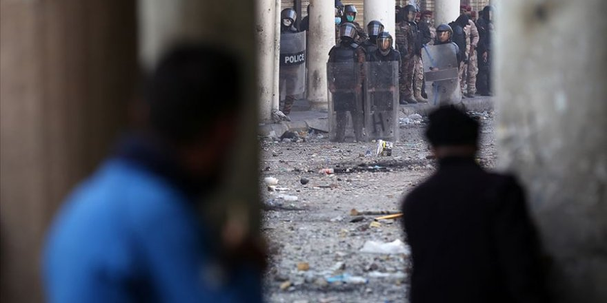 Irak'ınKerbelaKentindeki Meclis Binasına Girmeye Çalışan 15 Gösterici Yaralandı