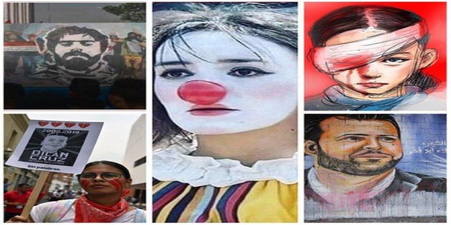 Şili, Irak, Hong Kong, Kolombiya ve Lübnan'daki Protestoların Yüzleri