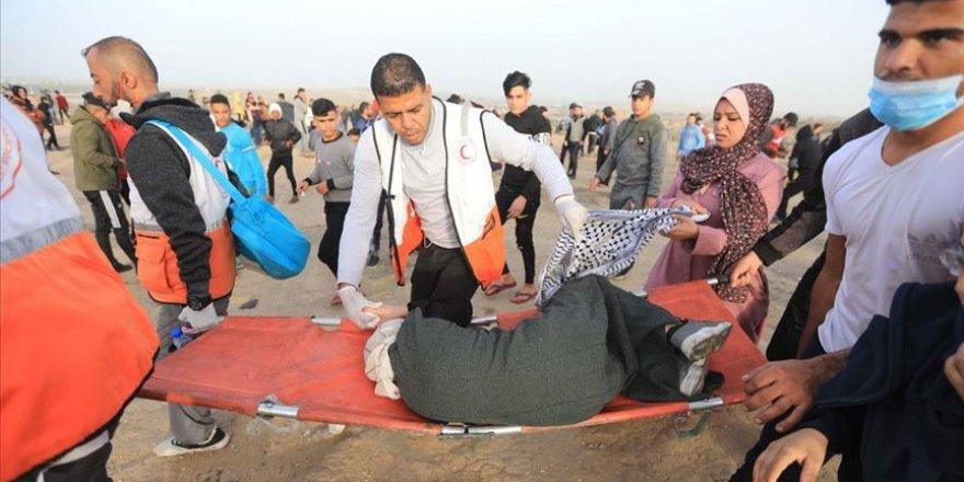 İşgal Güçleri Gazze Sınırında 5 Filistinliyi Yaraladı