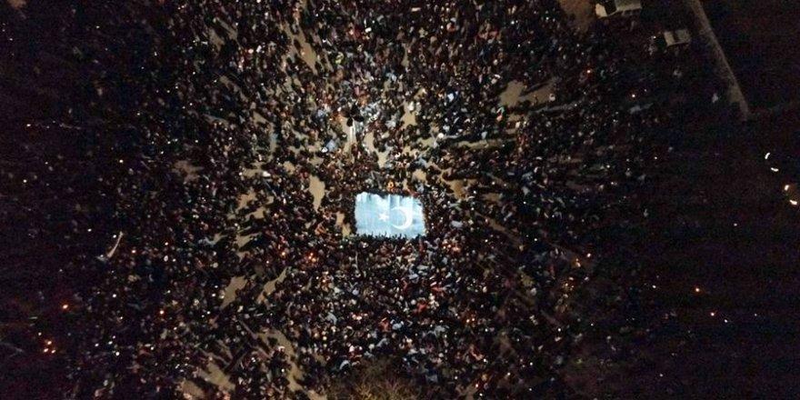 İstanbul'da Doğu Türkistan için Sessiz Çığlık
