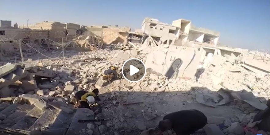 Rus ve Esed Güçleri Ma'retu'l Numan'ı Vahşice Bombalıyor