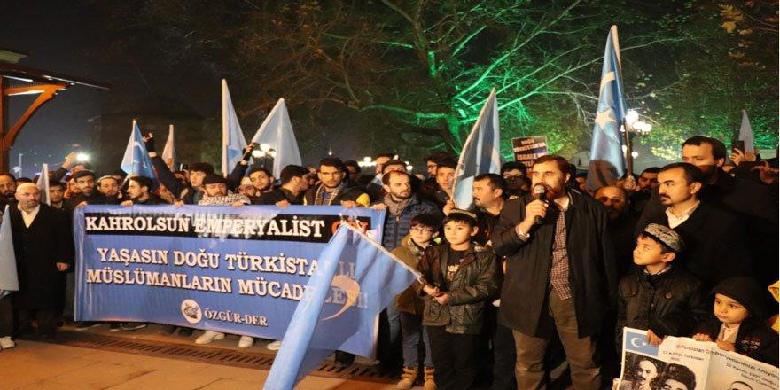 Çin'in Uygurlara Dönük Zulümleri Ankara'da Protesto Edildi
