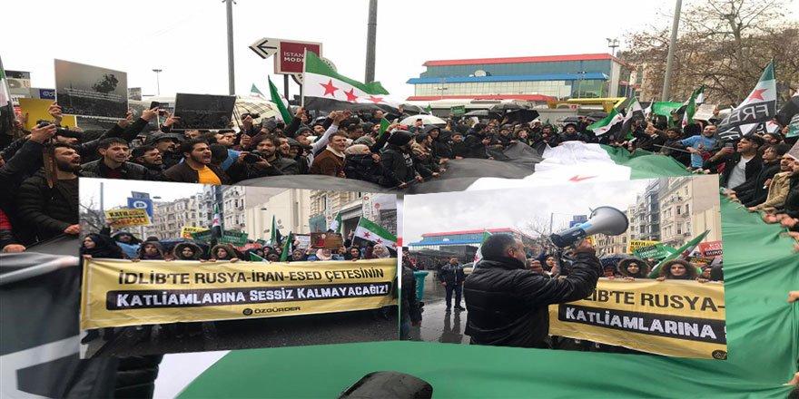 Rus Katliamları İstanbul'da Protesto Edildi!