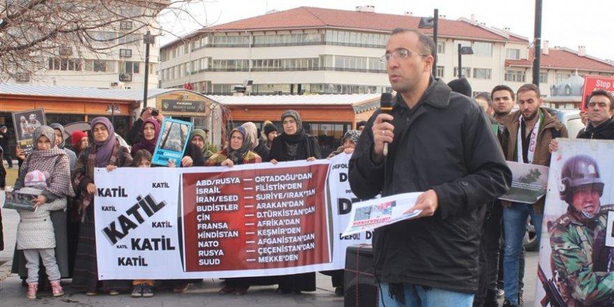 İşgalci Rusya Sivas'ta Protesto Edildi