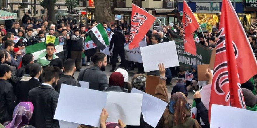 İdlib'deki Saldırılar Bursa'da Protesto Edildi