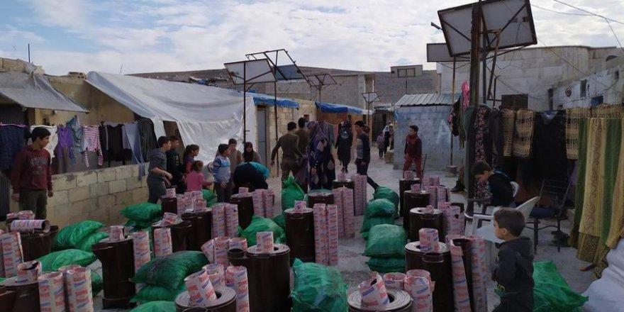Özgür-Der ve Bilgi Erdem Vakfı'ndan Suriyeli Muhacirlere Kömür ve Soba Dağıtımı