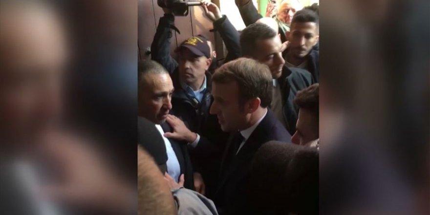 Fransa Cumhurbaşkanı Macron İle İsrail Polisi Arasında Gerginlik