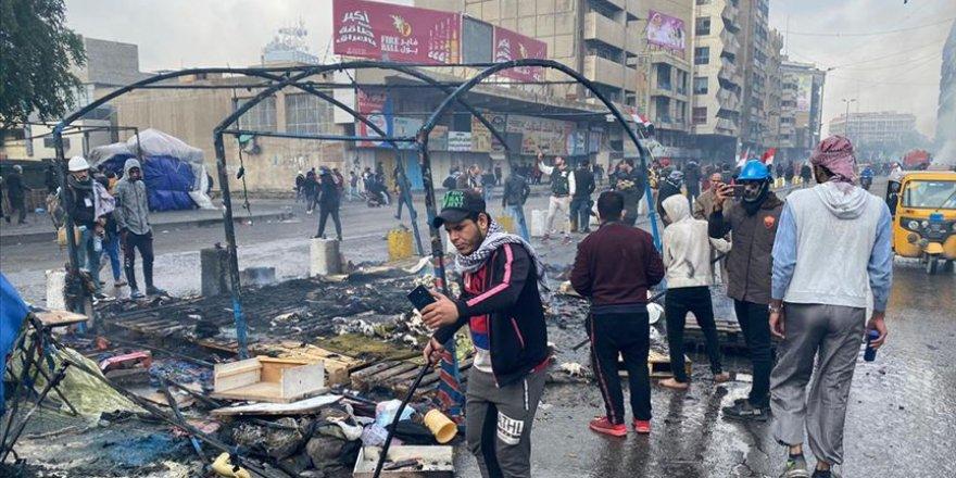 Irak Güvenlik Güçleri, Göstericilerin Eylem Çadırlarını Yaktı