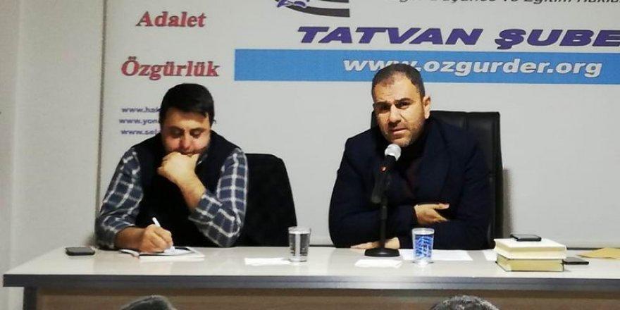 """Tatvan'da """"Âdâb-ı Muâşeret'' Konuşuldu"""
