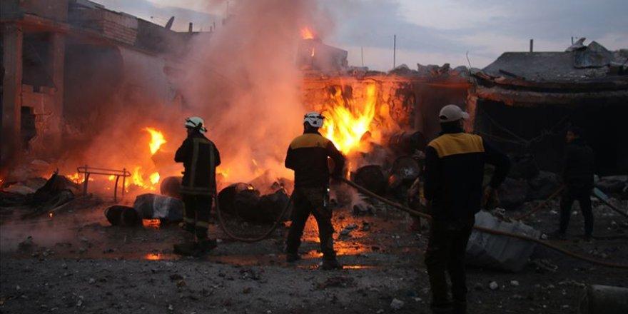 Rus Uçakları İdlib'de Hastaneyi Bombaladı