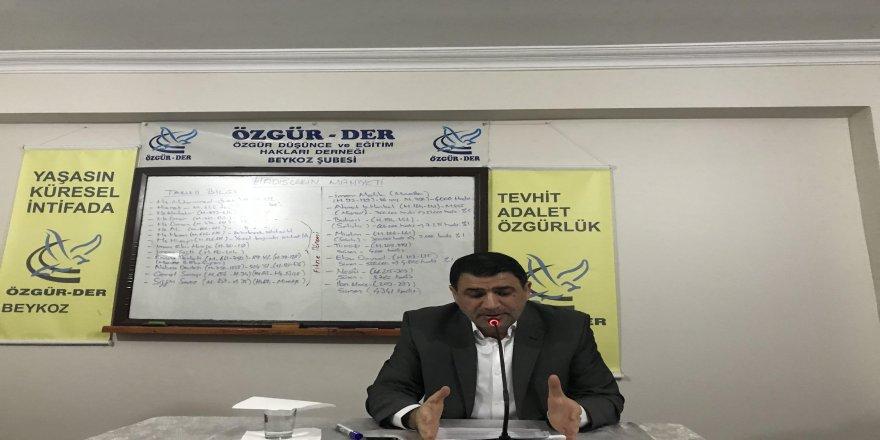 Beykoz Özgür-Der'de 'Hadis' Konusu İşlendi