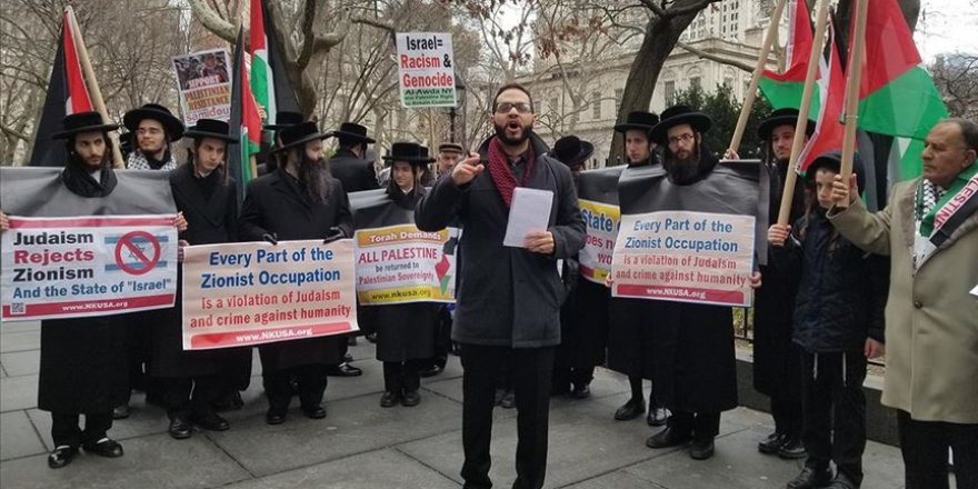 Trump'ın Sözde Orta Doğu Barış Planı New York'ta Protesto Edildi