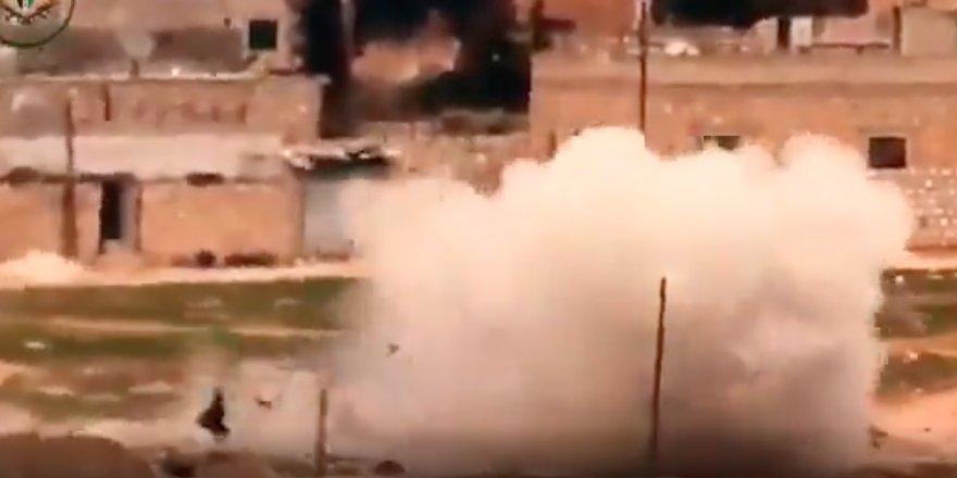 Direnişçiler, İdlib'de Bir Grup Esed Askerini Havaya Uçurdu