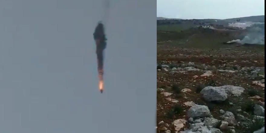 Direnişçiler Halep Kırsalında Esed Rejimine Ait Bir Helikopteri Düşürdü
