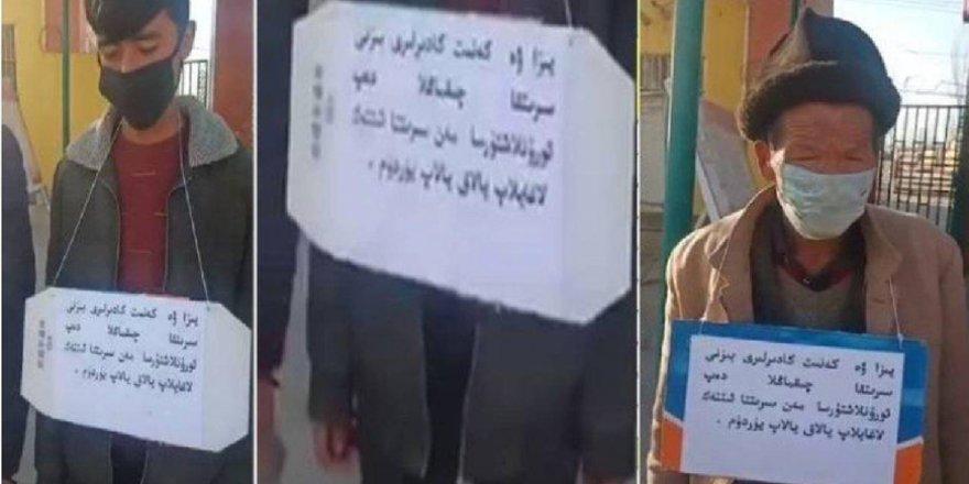Çin'den Doğu Türkistanlılara Teşhir Cezası
