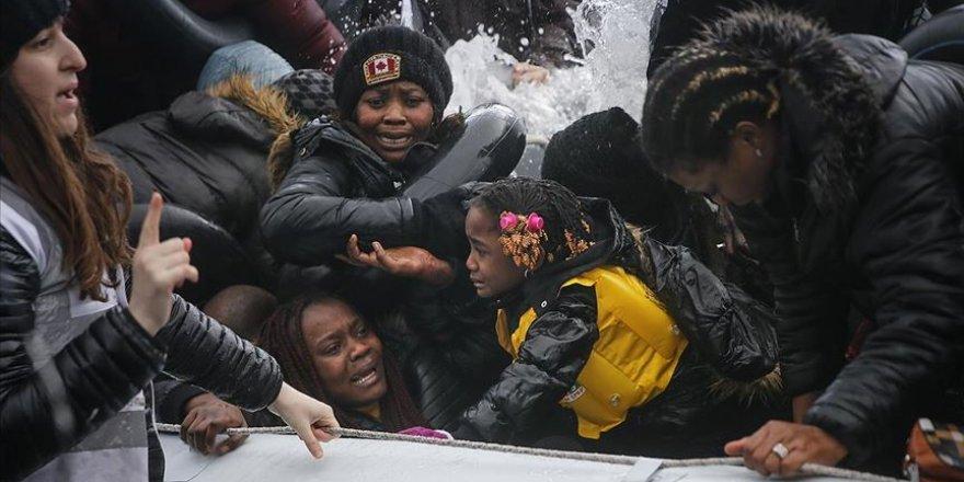 Göçmenlerin Midilli'ye Geçişleri Devam Ediyor