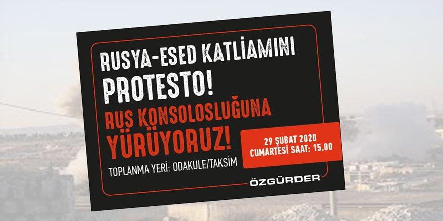 Rus ve Esed KatilleriniProtesto Ediyoruz!