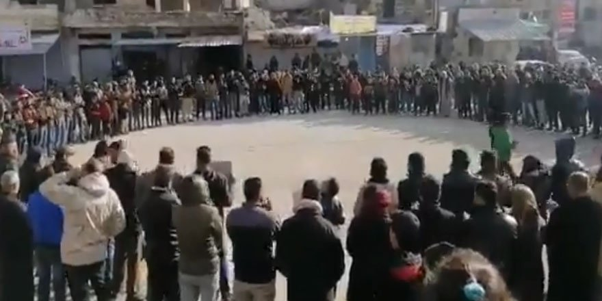 Der'a'da Türkiye ve Direniş Yanlısı Gösteri