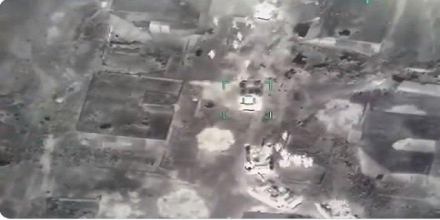 TSK Esed Rejiminin Tank ve Zırhlı Araç Konvoyunu İmha Etti