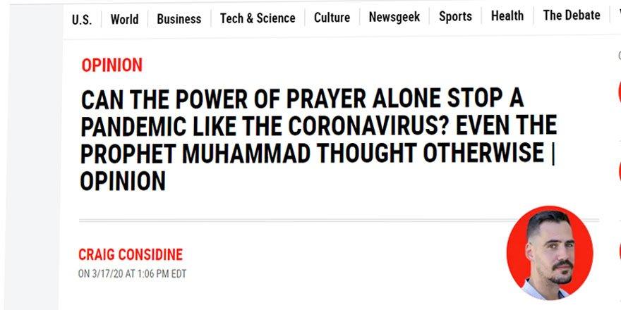 ABD'li Katolik Yazar Koronavirüs ile Mücadelede İslam'ın Temizlik Anlayışını Örnek Gösterdi