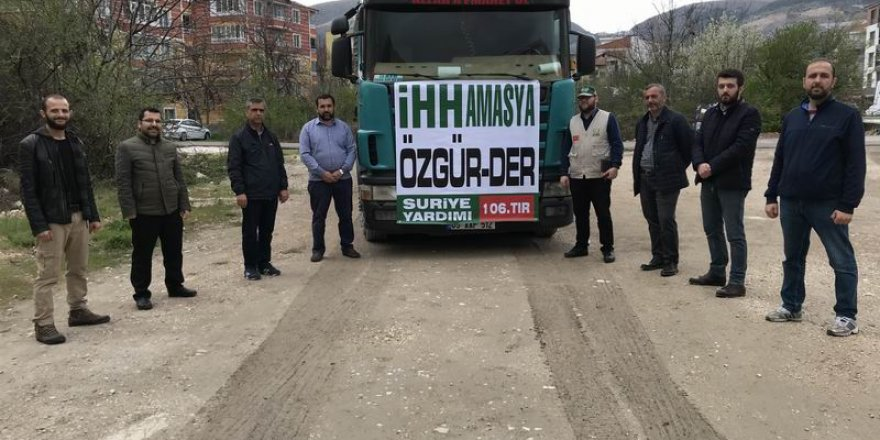 Amasya İHH ve Özgür-Der Suriye'ye 1 Tır Yardım Gönderdi