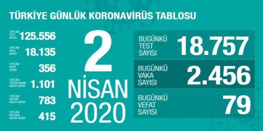 Türkiye'de Koronavirüs Vaka Sayısı 18 Bin 135'e, Can Kaybı 356'ya Çıktı