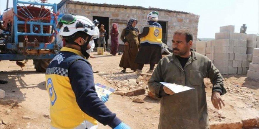 Beyaz Baretliler İdlib'de Koronavirüsü Anlatıyor