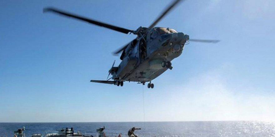 NATO Helikopteri İyon Denizi'ne Düştü